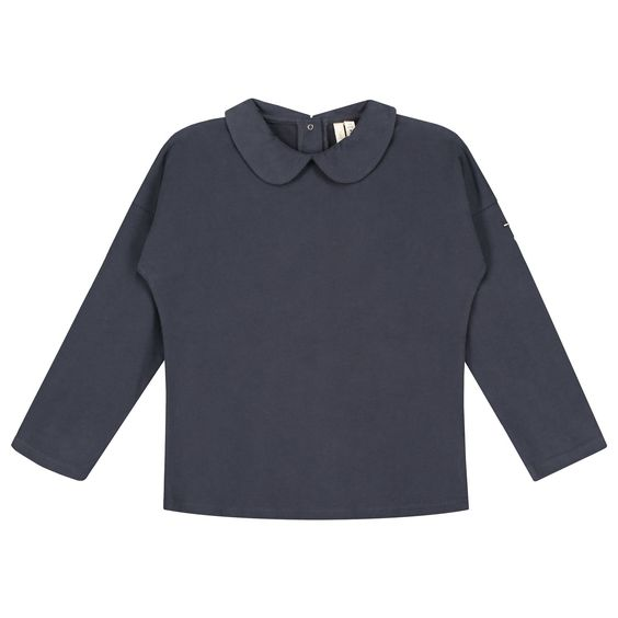 Long Sleeve Collar Night Blue