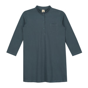 3/4 Long Beach Shirt Blue Grey