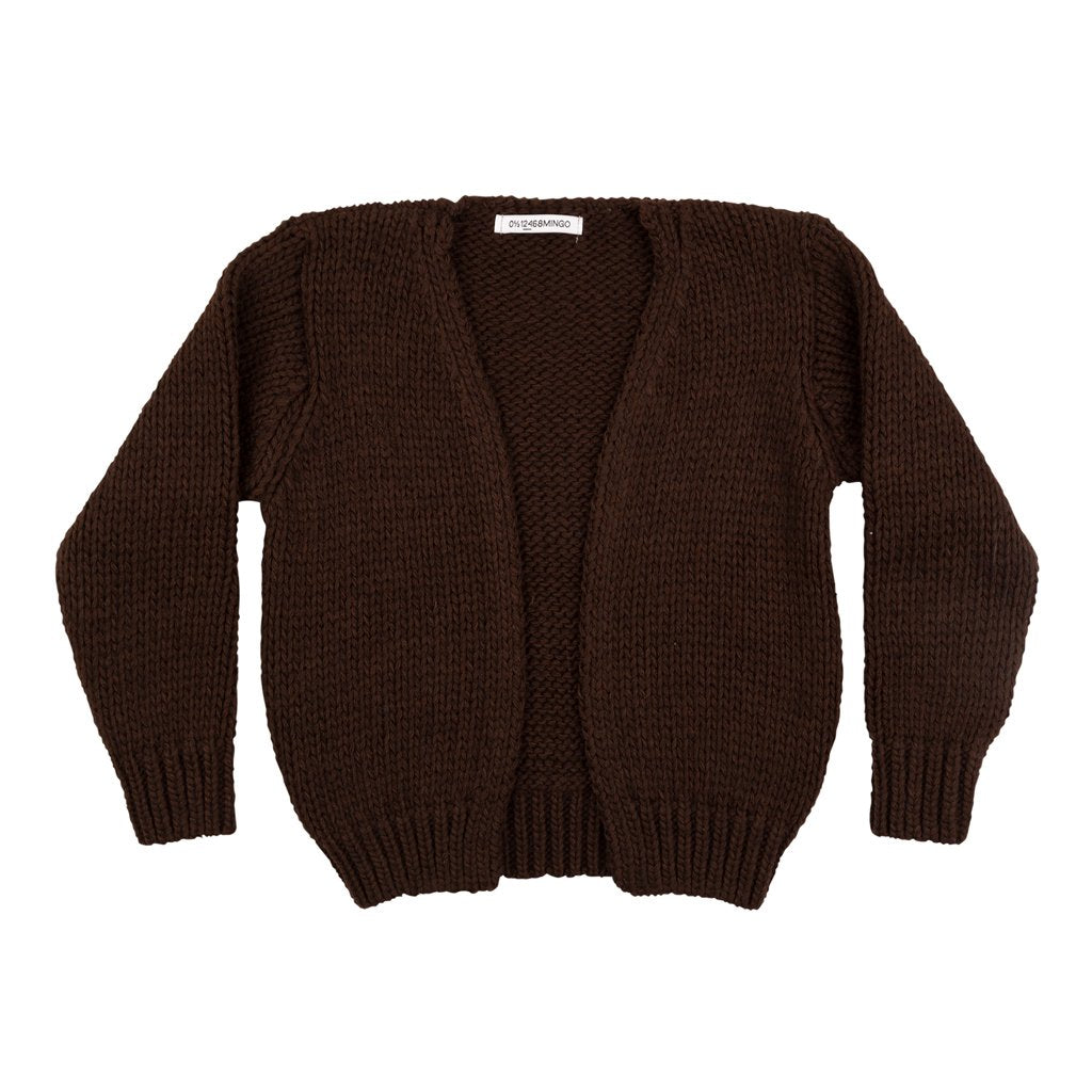 Cardigan Alpaca Bitter Chocolate