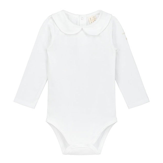 Onesie With Collar White