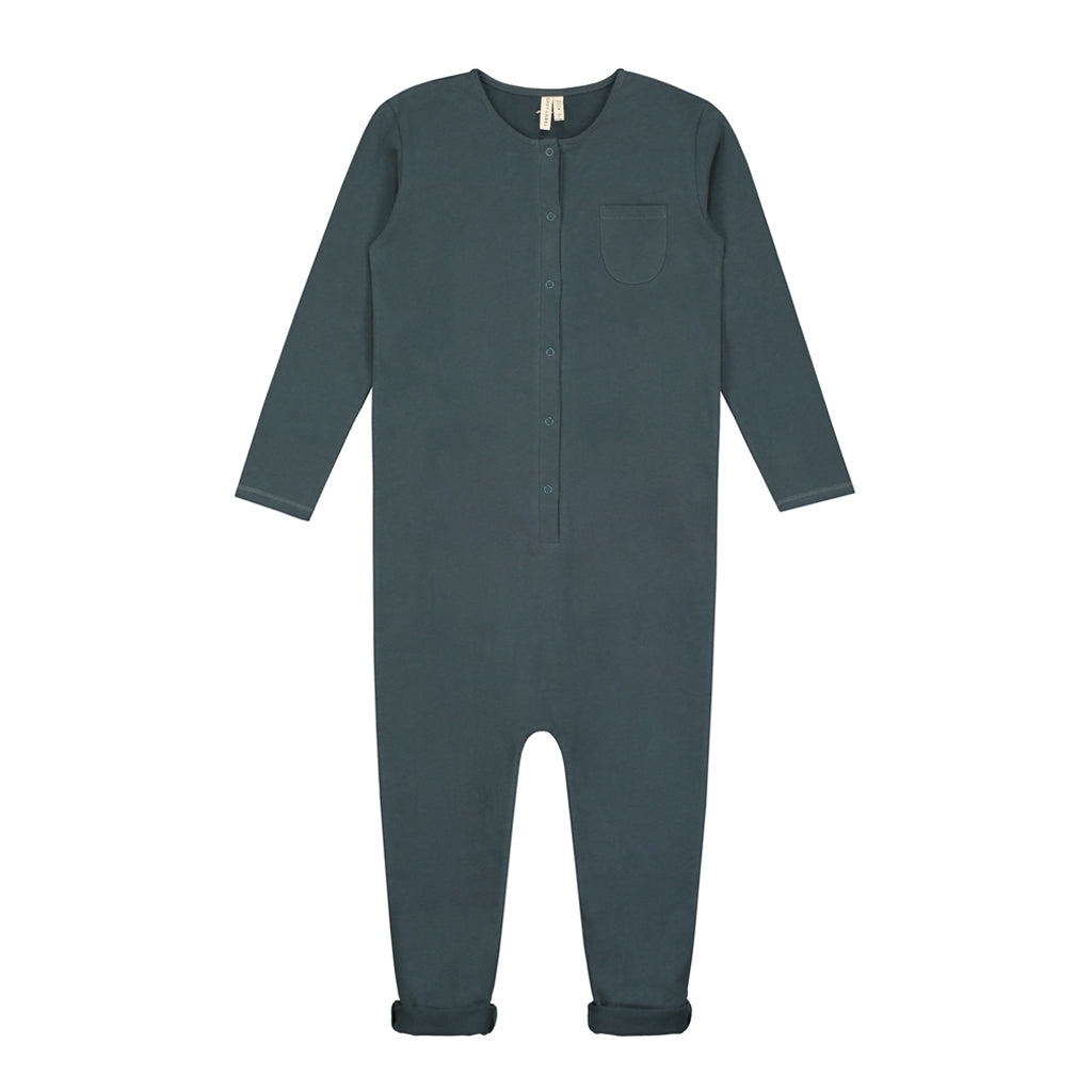 Playsuit Long Sleeve Blue Grey