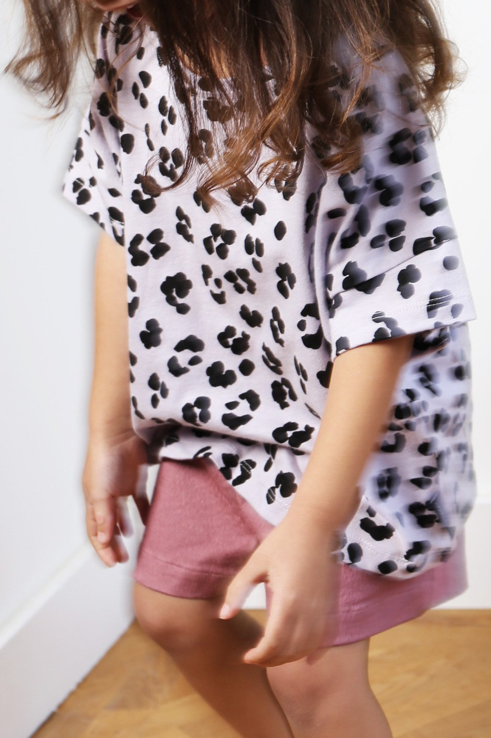 T-shirt Leopard Dusty Lilac