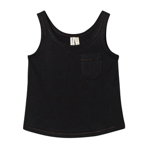 Tank Top With Pocket Nearly Black