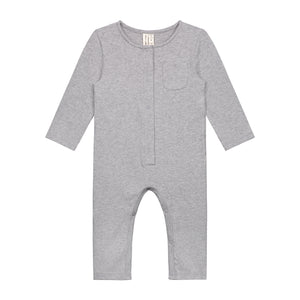 Playsuit Long Sleeve Baby Grey Melange
