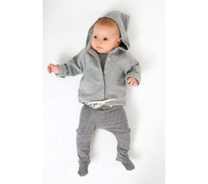 Hooded Cardigan Baby Grey Melange