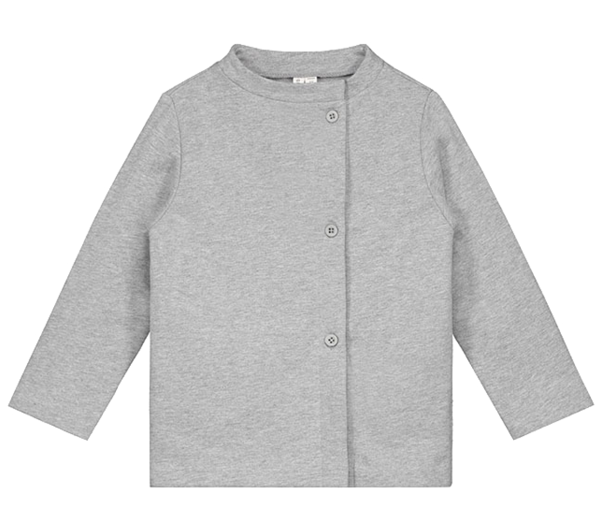 Cardigan Button Grey Melange