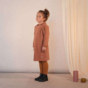 Dress with collar Russet