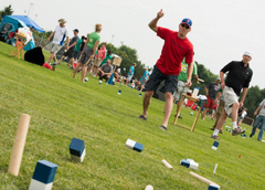 Kubb game play