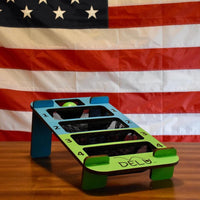 DELU™ Game - Indoor/Outdoor Tailgate Game (Includes Game, 3 Blue Balls, 3 Green Balls, and Storage Bag)