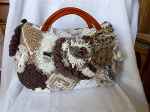 Crochet Handbag Irish Coffee