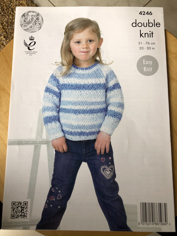 Child's Easy Knit Sweater double knitting