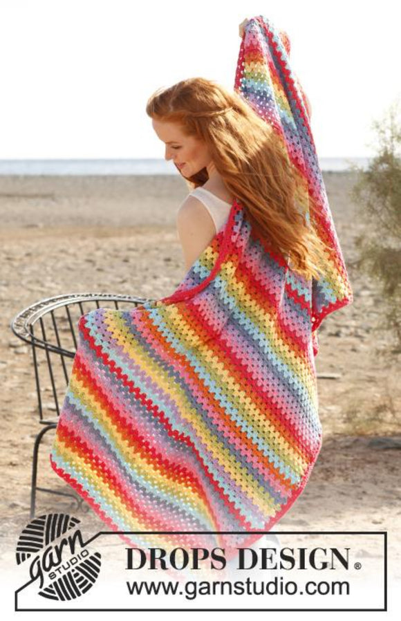 Rainbow's End Drops Crochet Pattern in Paris Cotton