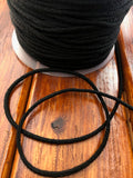 Black Round Elastic Cord 3 mm