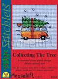 Camper Van Collecting The Tree Christmas Cross Stitch Carft Kit