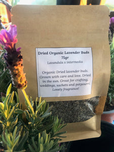 Dried Organic Lavender Buds 75gr