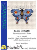 Fancy Butterfly cross stitch kit