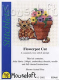 Flowerpot Cat cross Stitch Kit