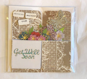 Folding Box of Flowers - Get Well Soon Card