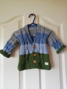 Handknit Cardigan with V neck