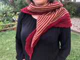 Hand knitted stripes shawl