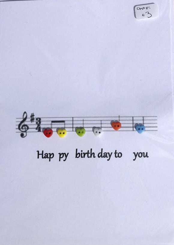 Cute handmade Happy Birthday  button cards
