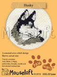 Husky Cross Stitch Kit