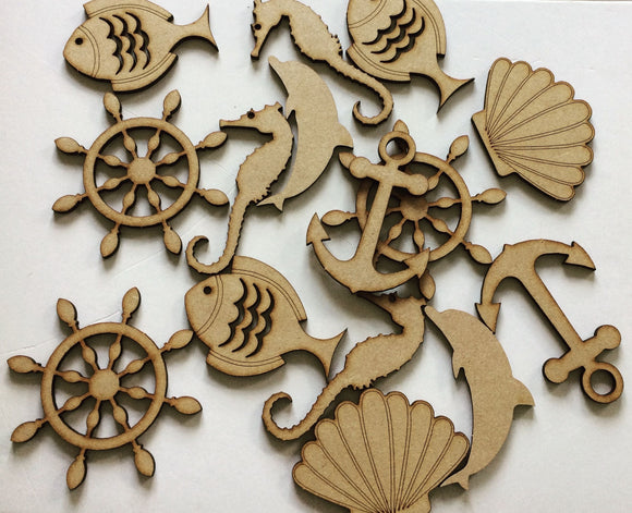 Marine Wooden  Diecuts