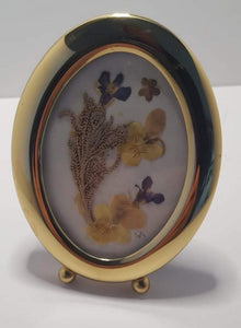 Pressed Flower  Brass Frame