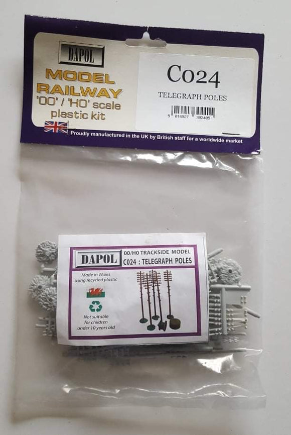Model Railway Telegraph poles