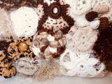 Crochet Handbag Irish coffee close up