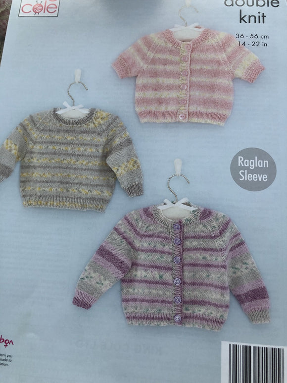 Baby sweater and cardigan knitting pattern