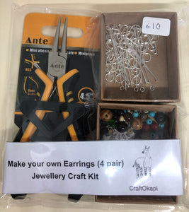 Make your own earrings jewellery kit