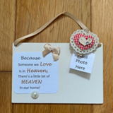 "Plaque ""Because someone we love is in heaven..."""