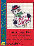 Santa Stop Here Christmas  Cross Stitch kit