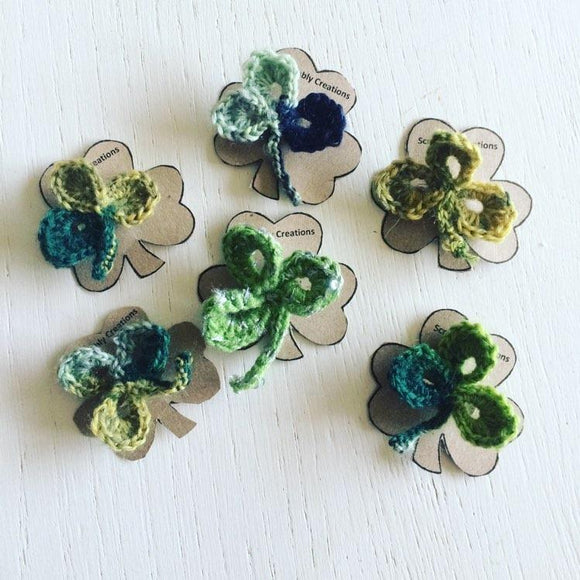 Irish Shamrock Wool Brooches