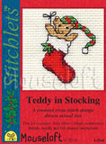 Teddy in Stocking Christmas Cross Stitch Kit