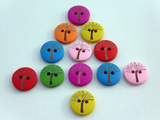 Tree wooden buttons