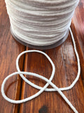 White Round Elastic Cord 3 mm