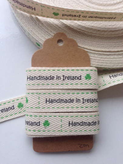 Handmade in Ireland Cotton Ribbon 🏠