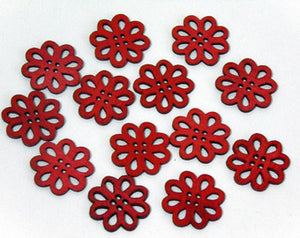 Flower wooden Buttons