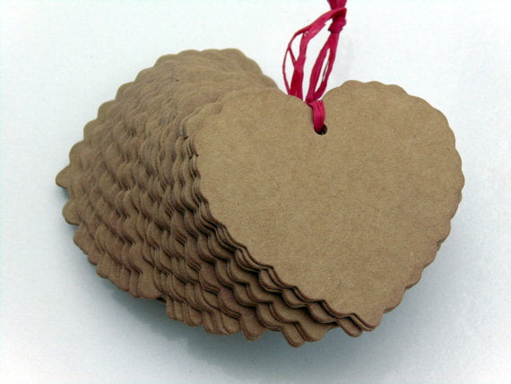 Heart Paper Craft tags