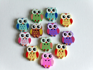 Bird  Wooden Buttons
