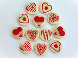 Red Heart Wooden Buttons