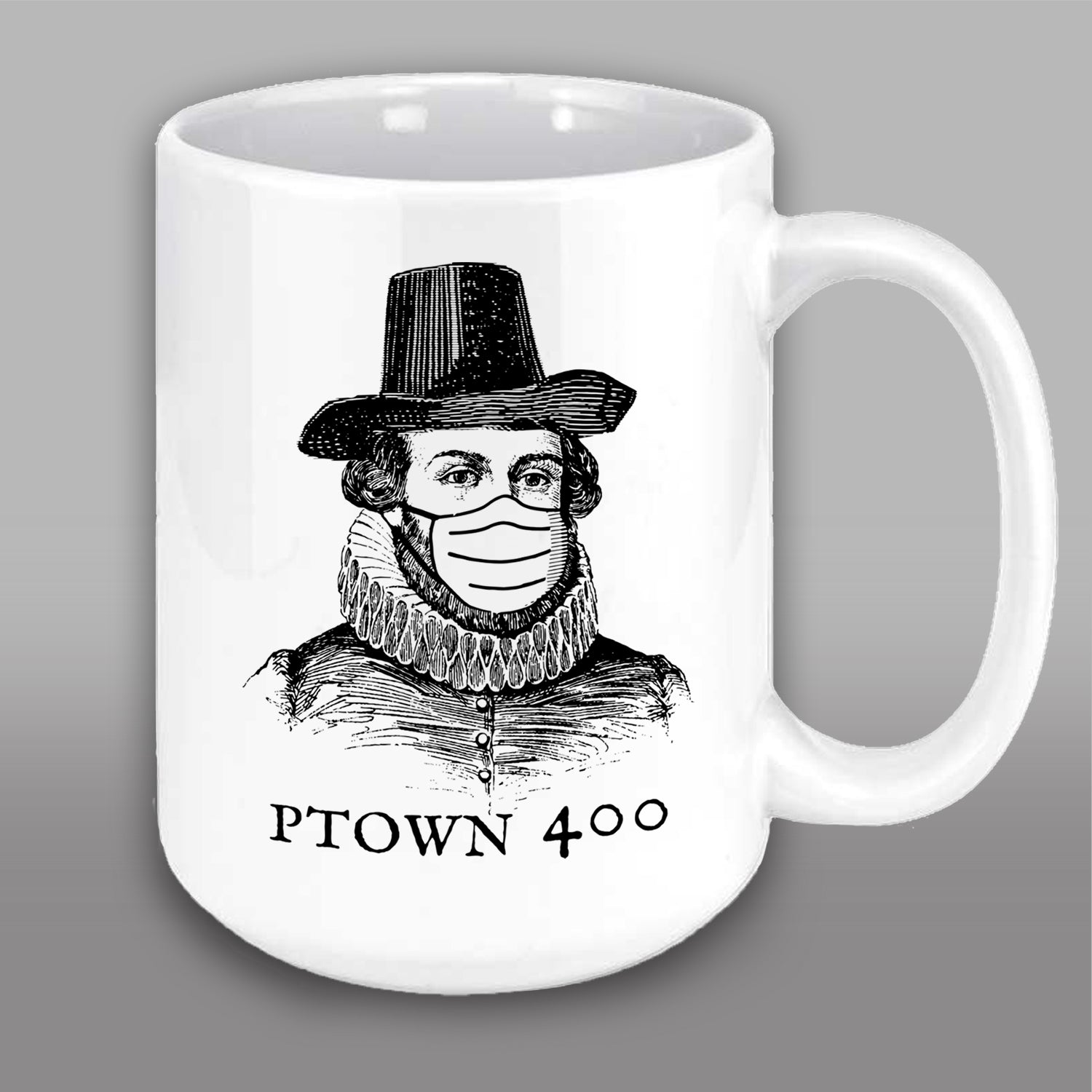 Ptown 400 Masked Male Pilgrim Mug