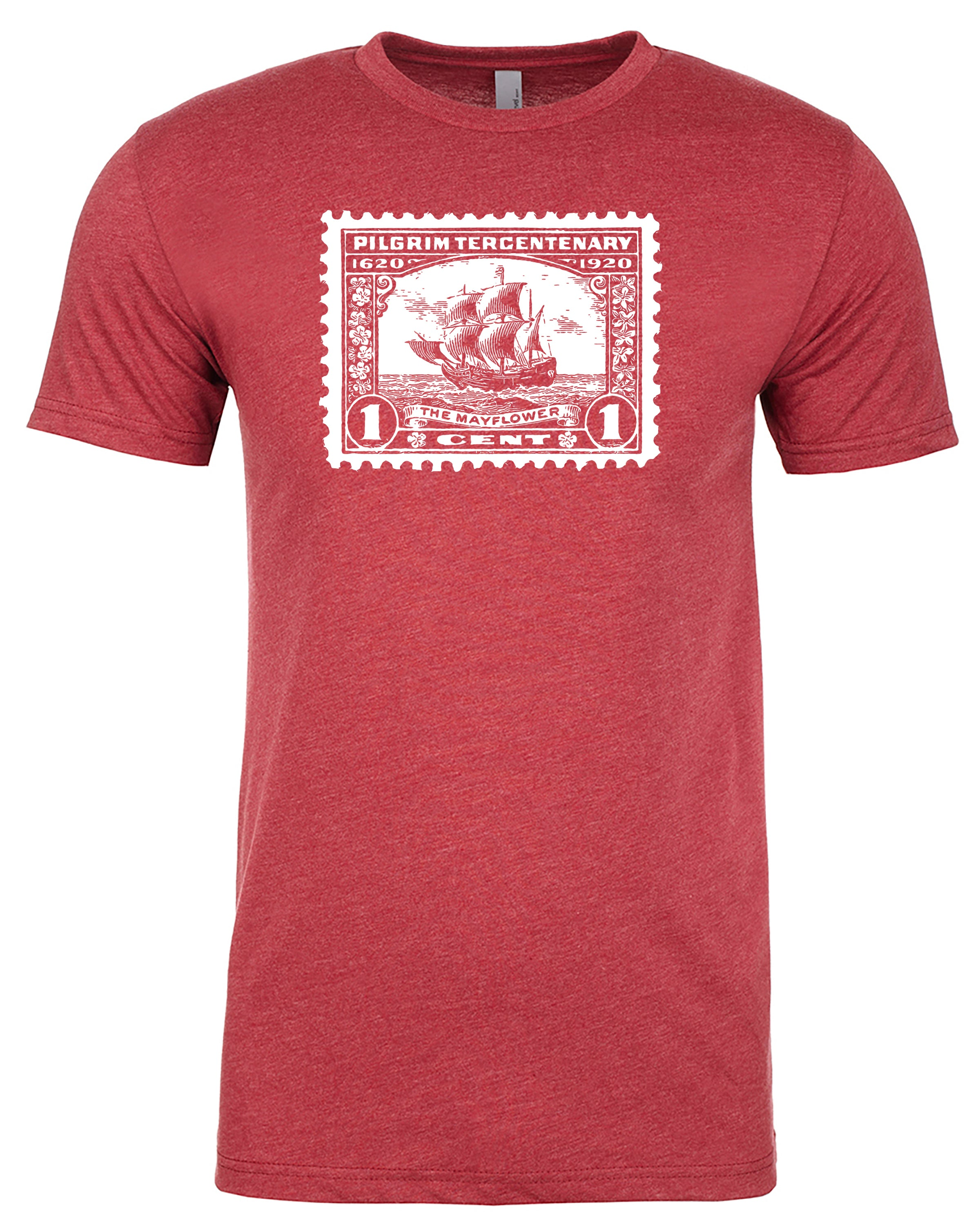 Mayflower Stamp Red