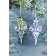 "Load image into Gallery viewer, 11""H Finial Shatterproof LED Ornament"