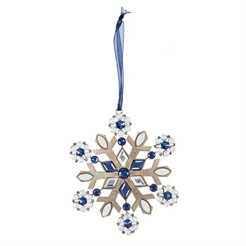 Metal Snowflake Ornament with Rhinestone