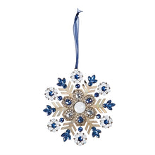 Load image into Gallery viewer, Metal Snowflake Ornament with Rhinestone
