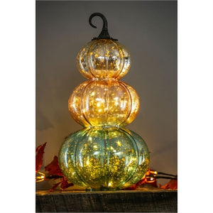 Stacked Glass Pumpkin
