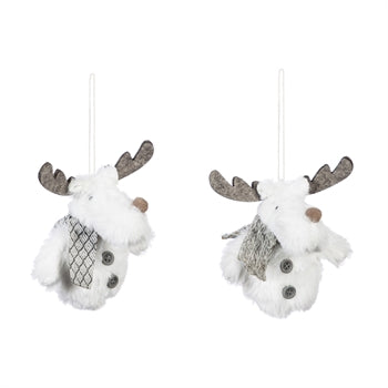 Fabric Moose Ornaments